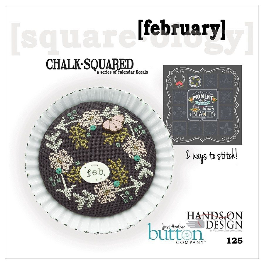 JABC - Cross Stitch Patterns - Chalk Squared February