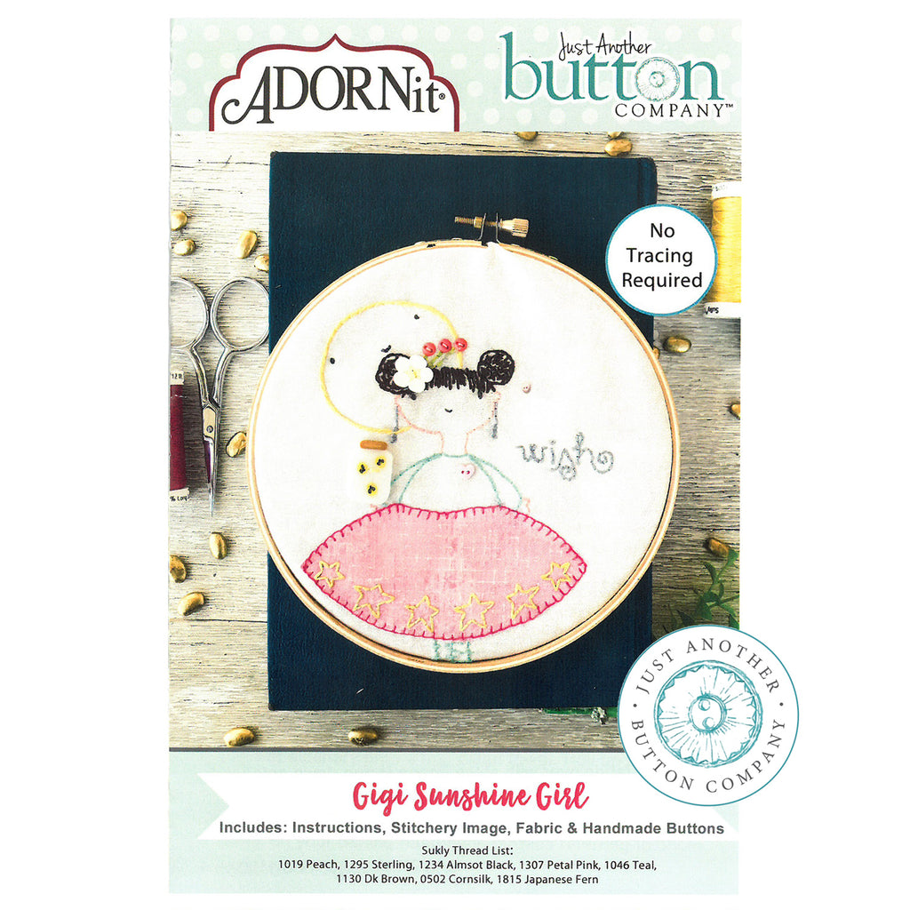 Embroidery Kit - Gigi