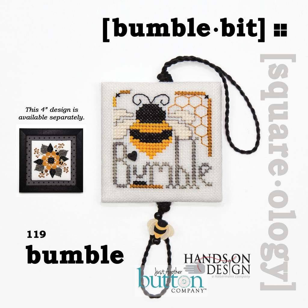 JABC - Cross Stitch - [square.ology] bumble.bit