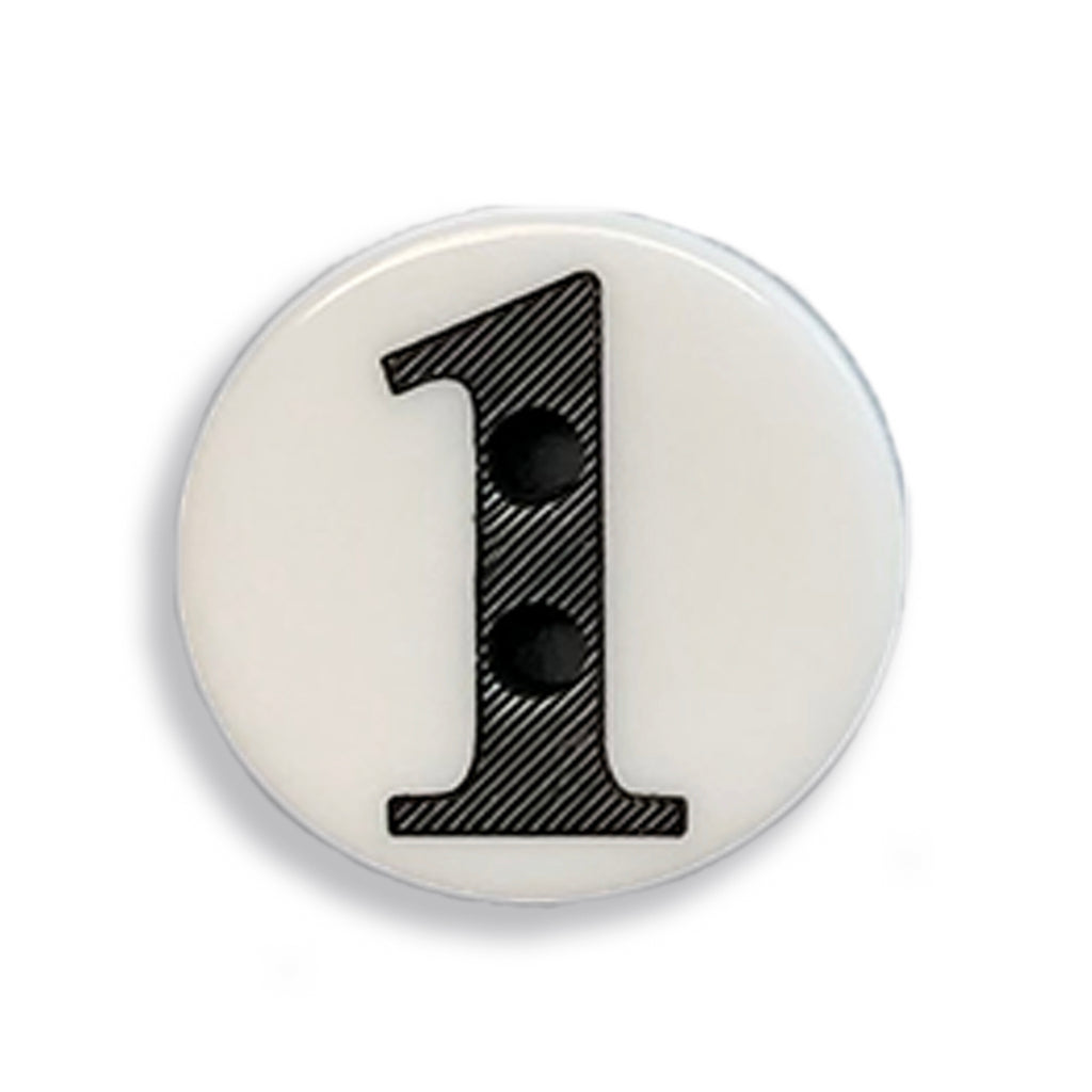"""1"" Button (white)"