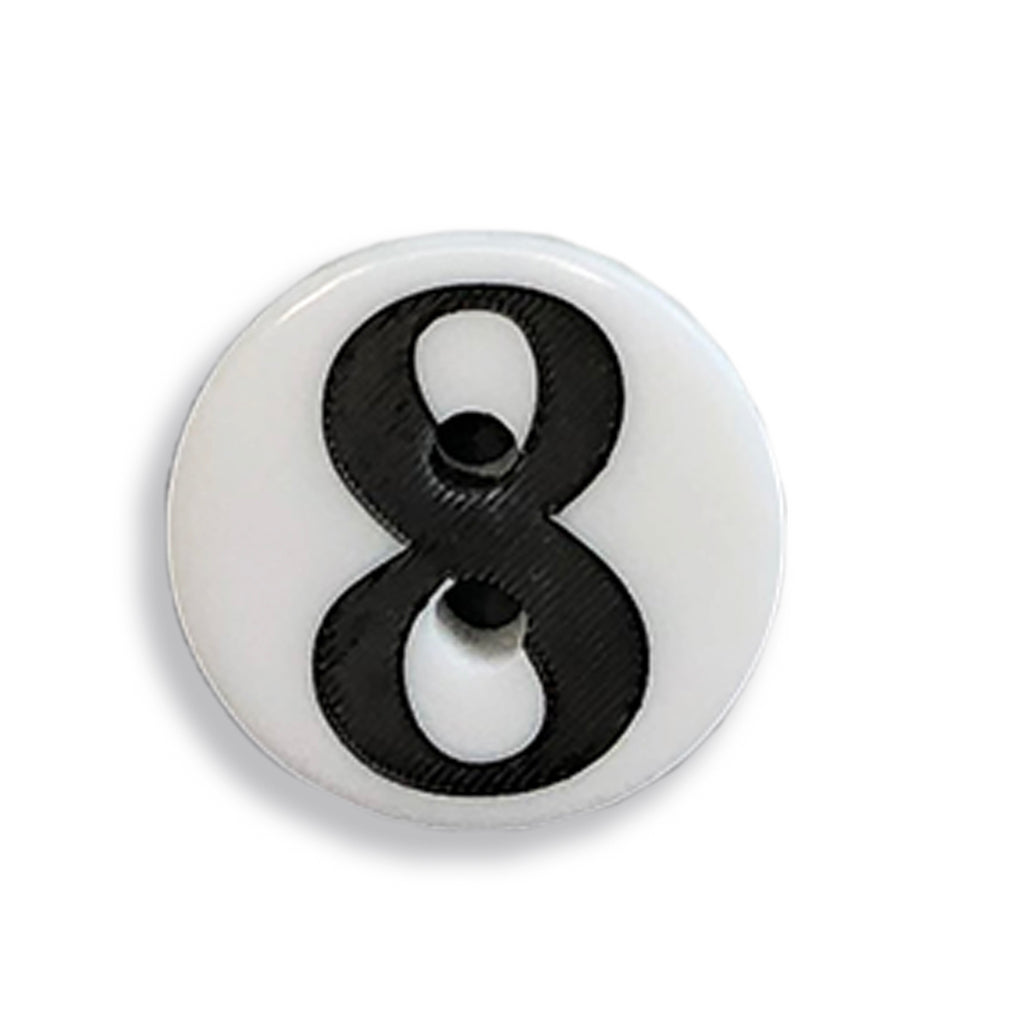 """8"" Button (white)"