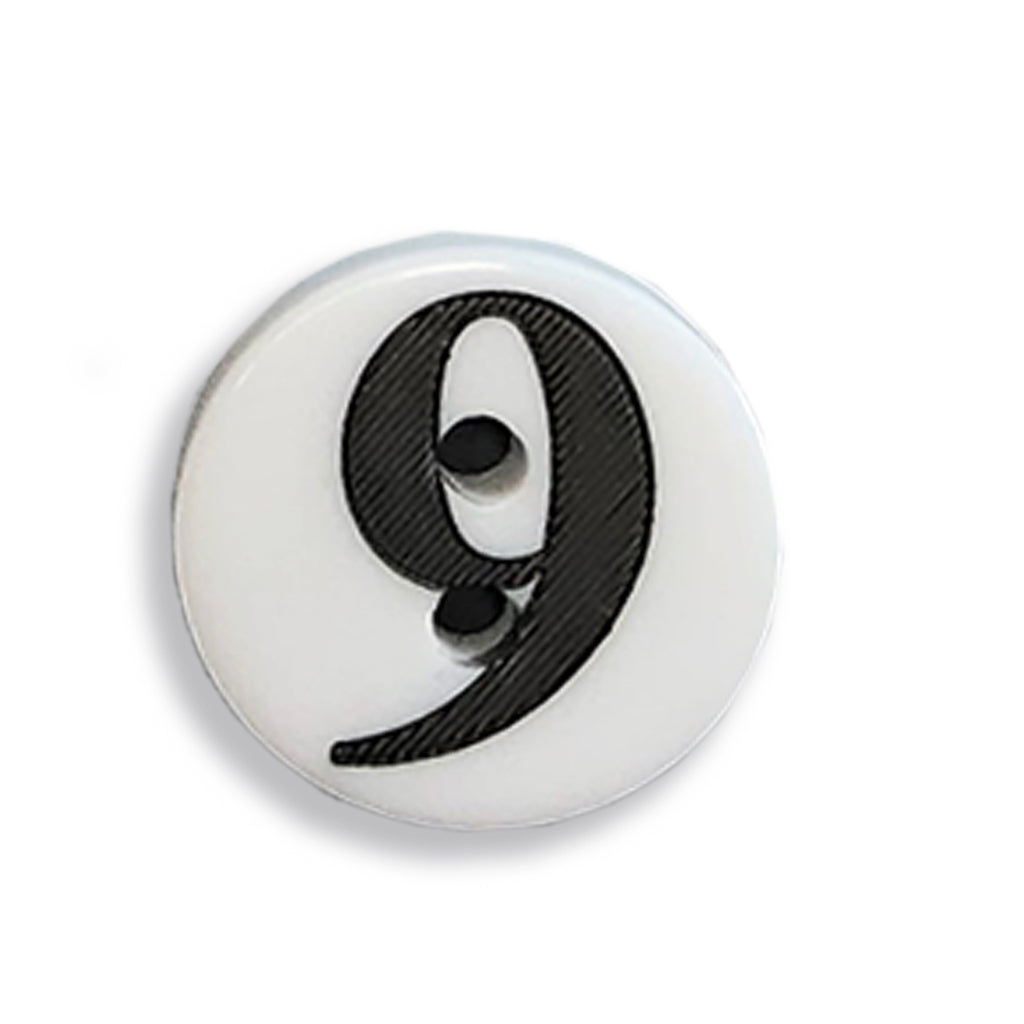 """9"" Button (white)"