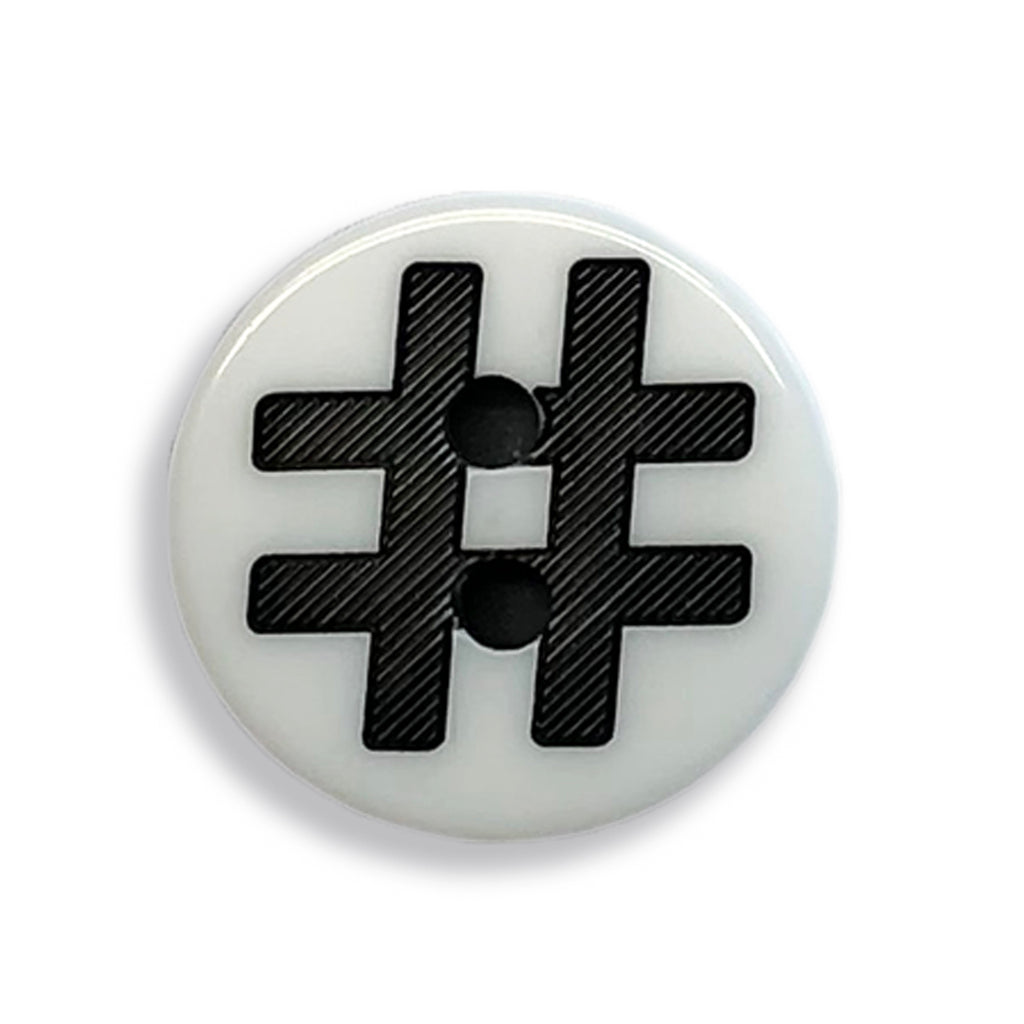 """#"" Button (white)"