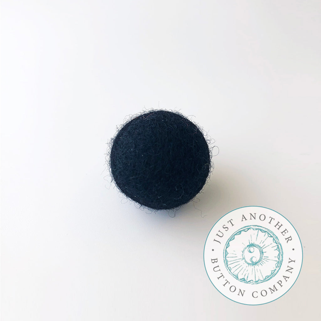 Black Felted-Wool Ball - 1CM