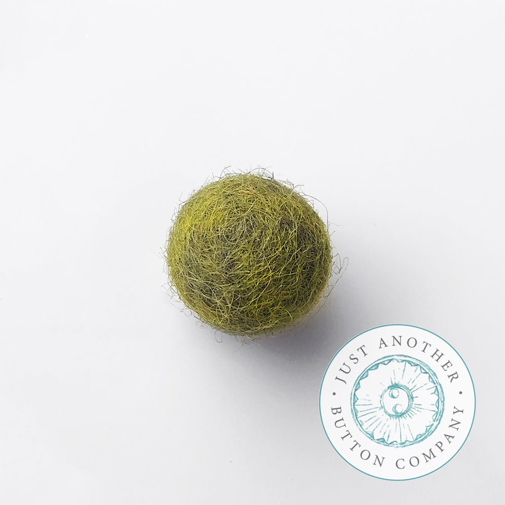 Olive Felted-Wool Ball - 1CM