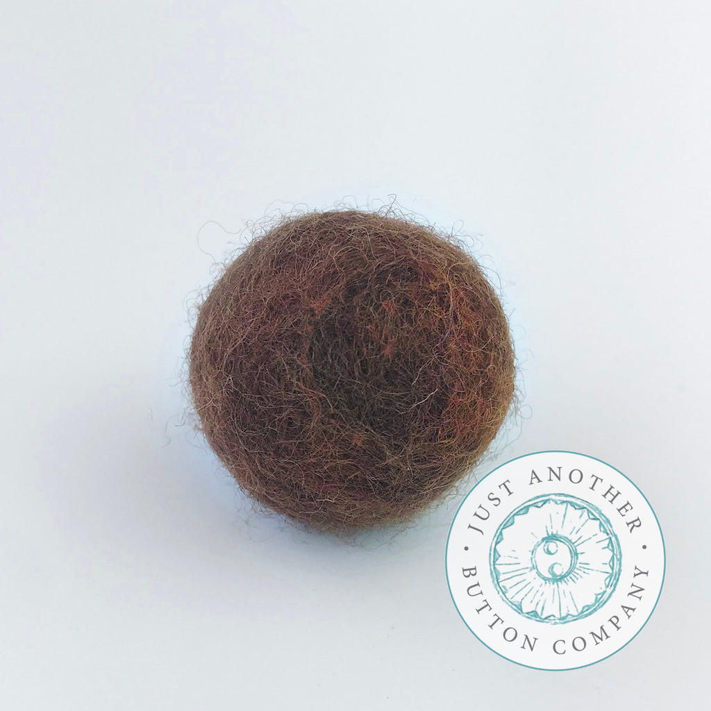 Brown Felted-Wool Ball - 3CM