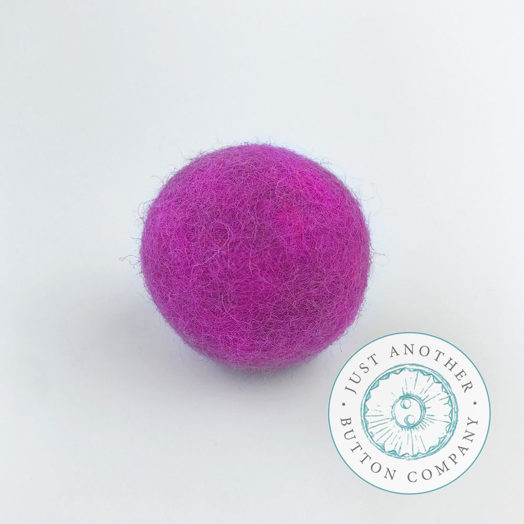 Dark Pink Felted-Wool Ball - 3CM