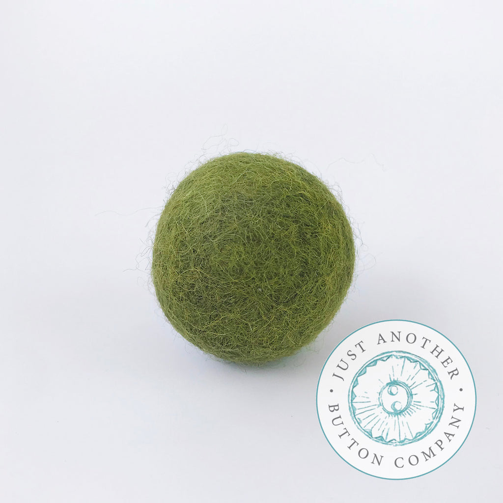 Olive Felted-Wool Ball - 3CM
