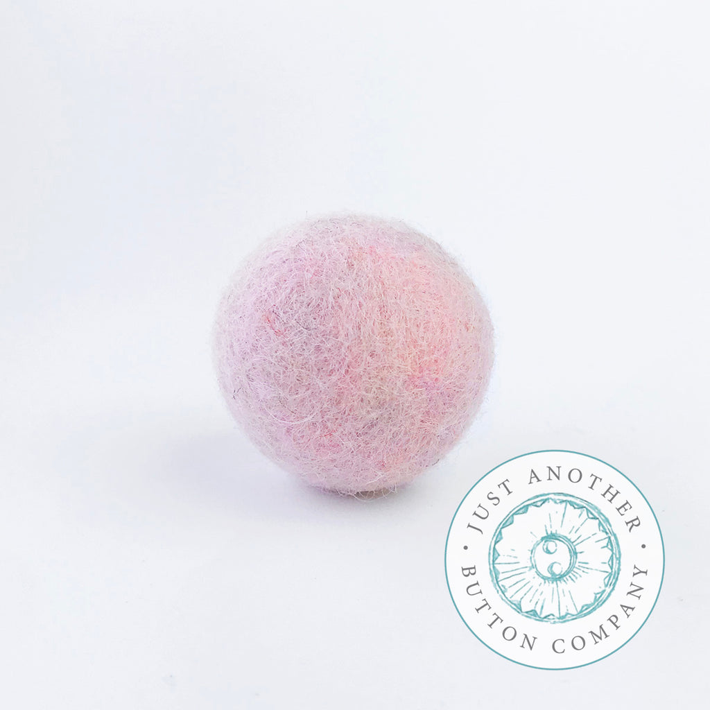 Pale Pink Felted-Wool Ball - 3CM