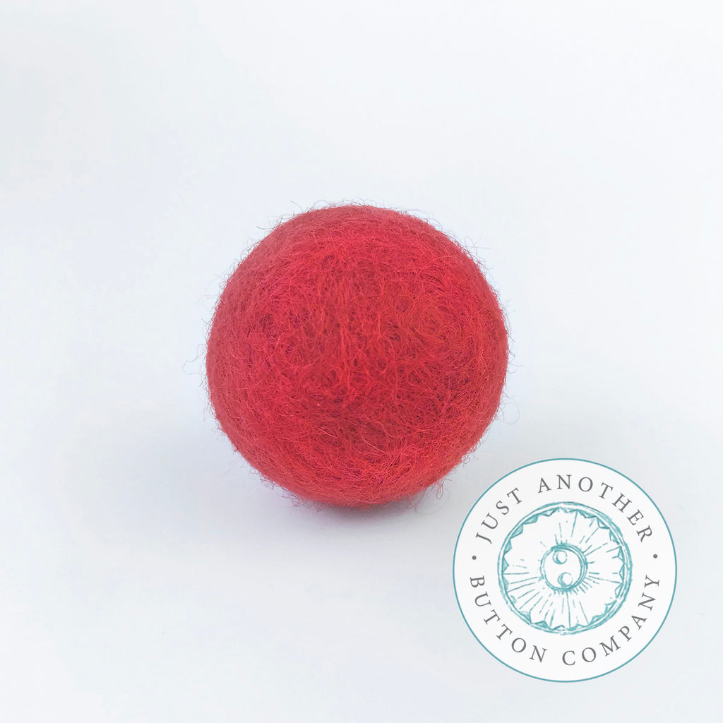 Poinsettia Felted-Wool Ball - 3CM