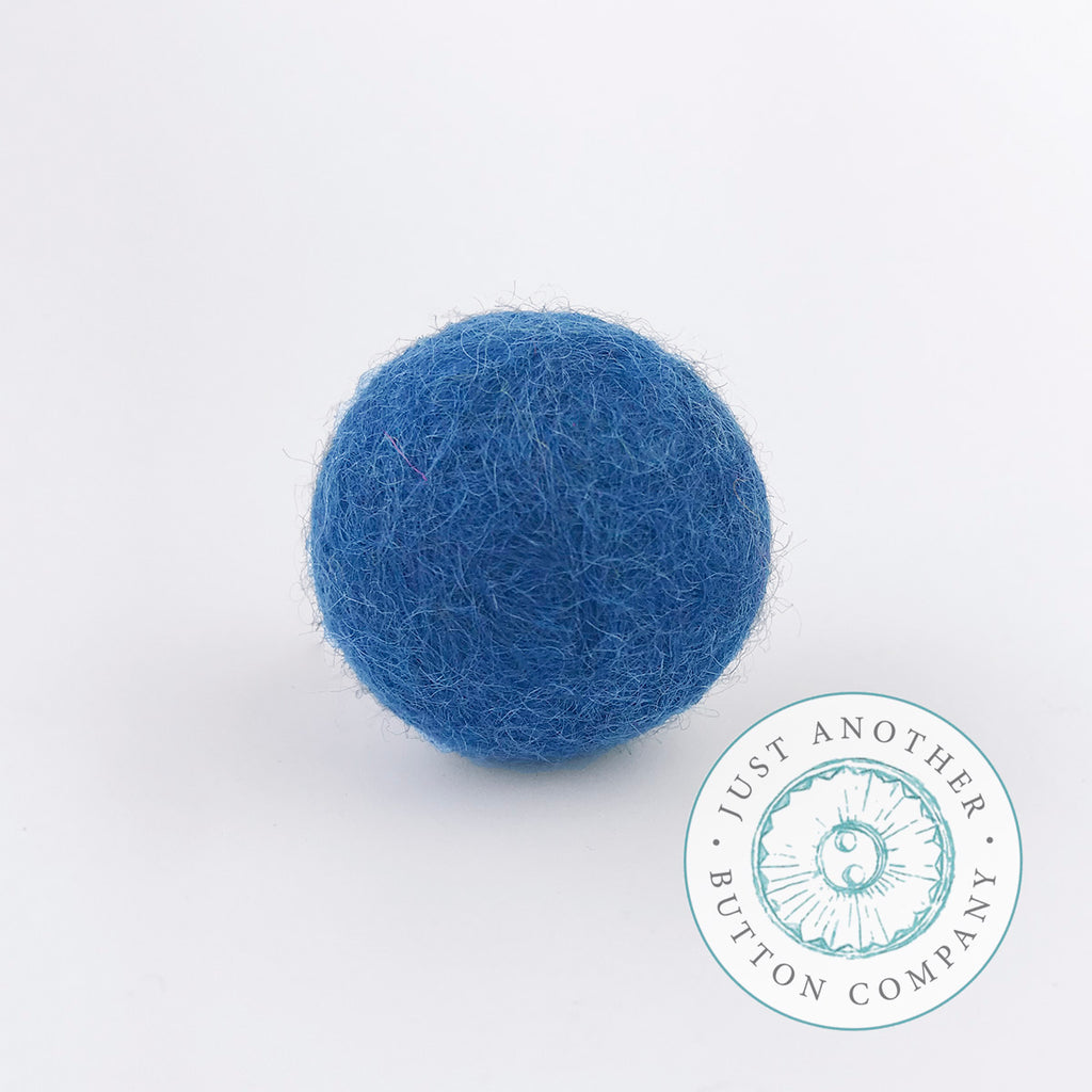 Turquoise Felted-Wool Ball - 3CM