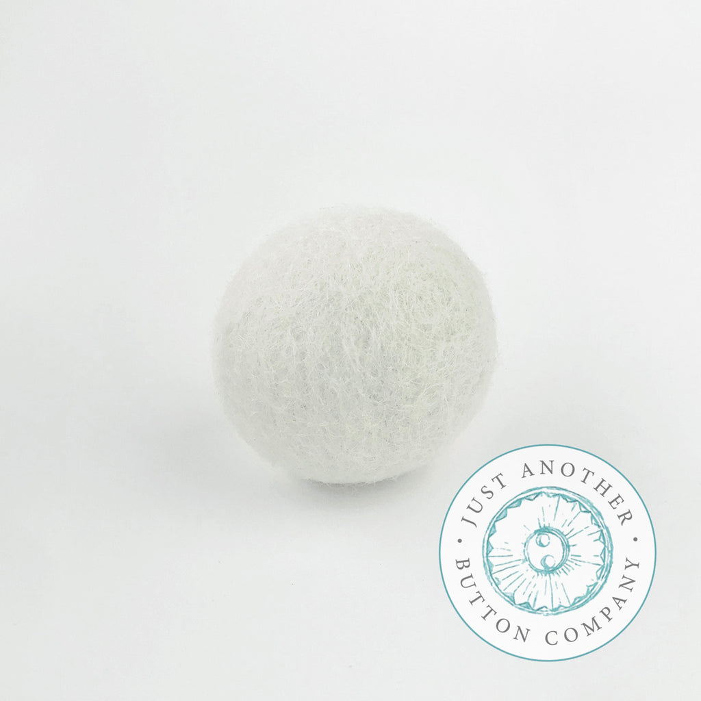 Winter White Felted-Wool Ball - 3CM