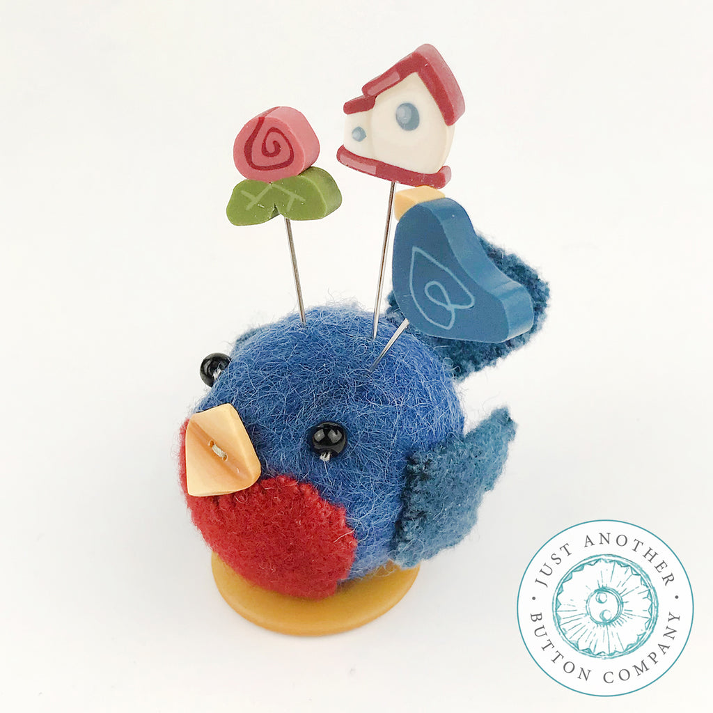 Button Buddy - Bonnie Bluebird - PDF Pattern
