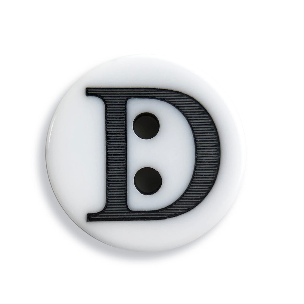 """D"" Button (white)"