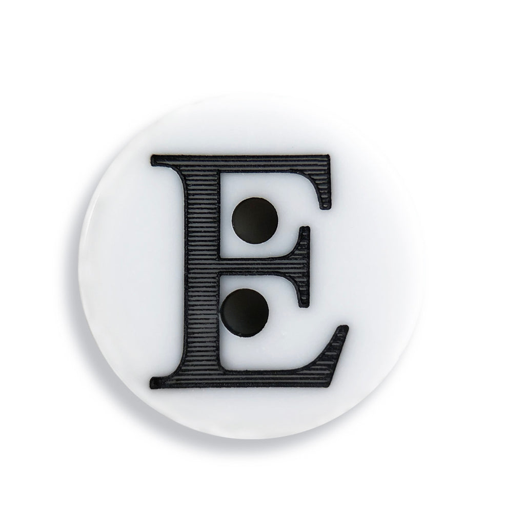 """E"" Button (white)"