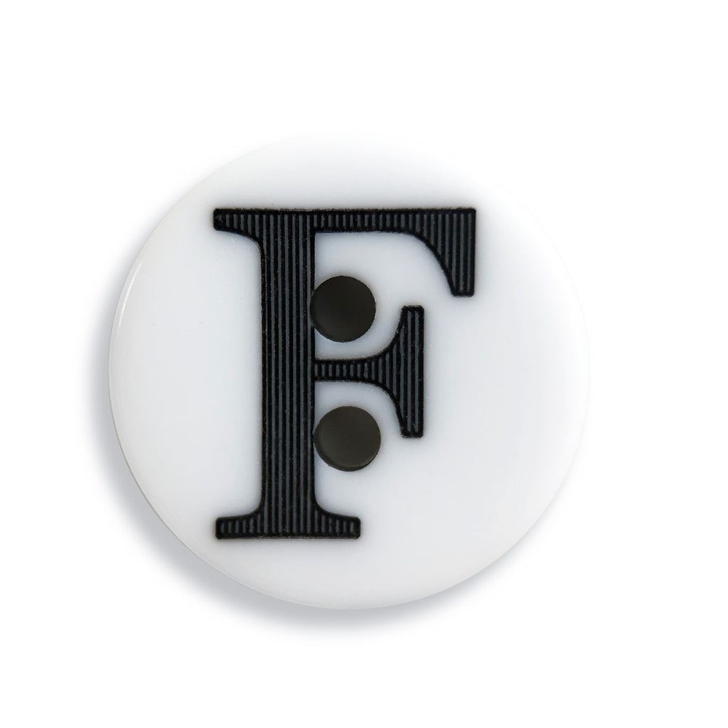 """F"" Button (white)"