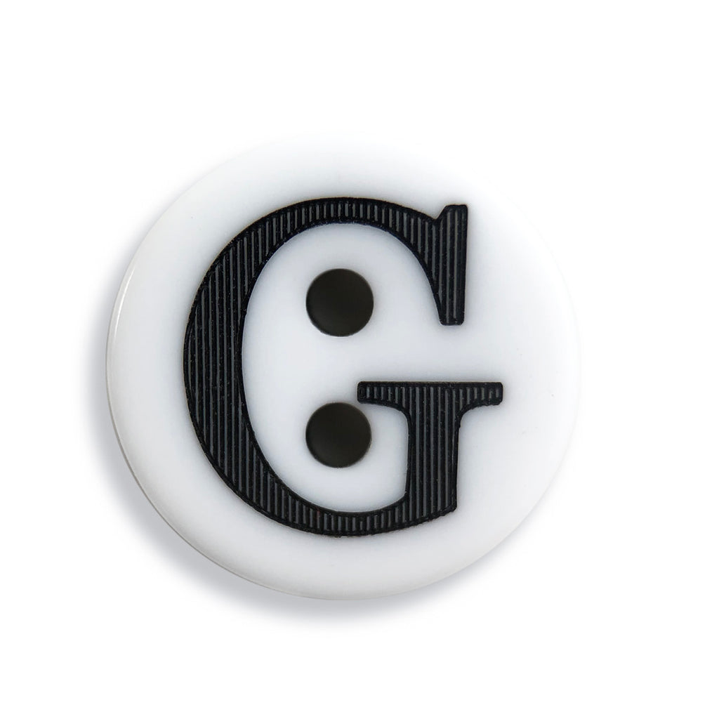 """G"" Button (white)"