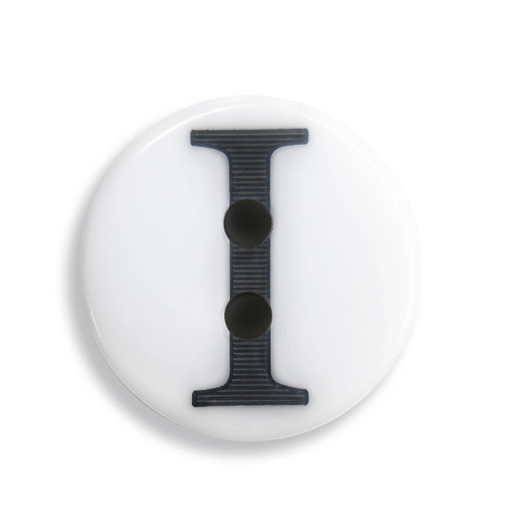 """I"" Button (white)"