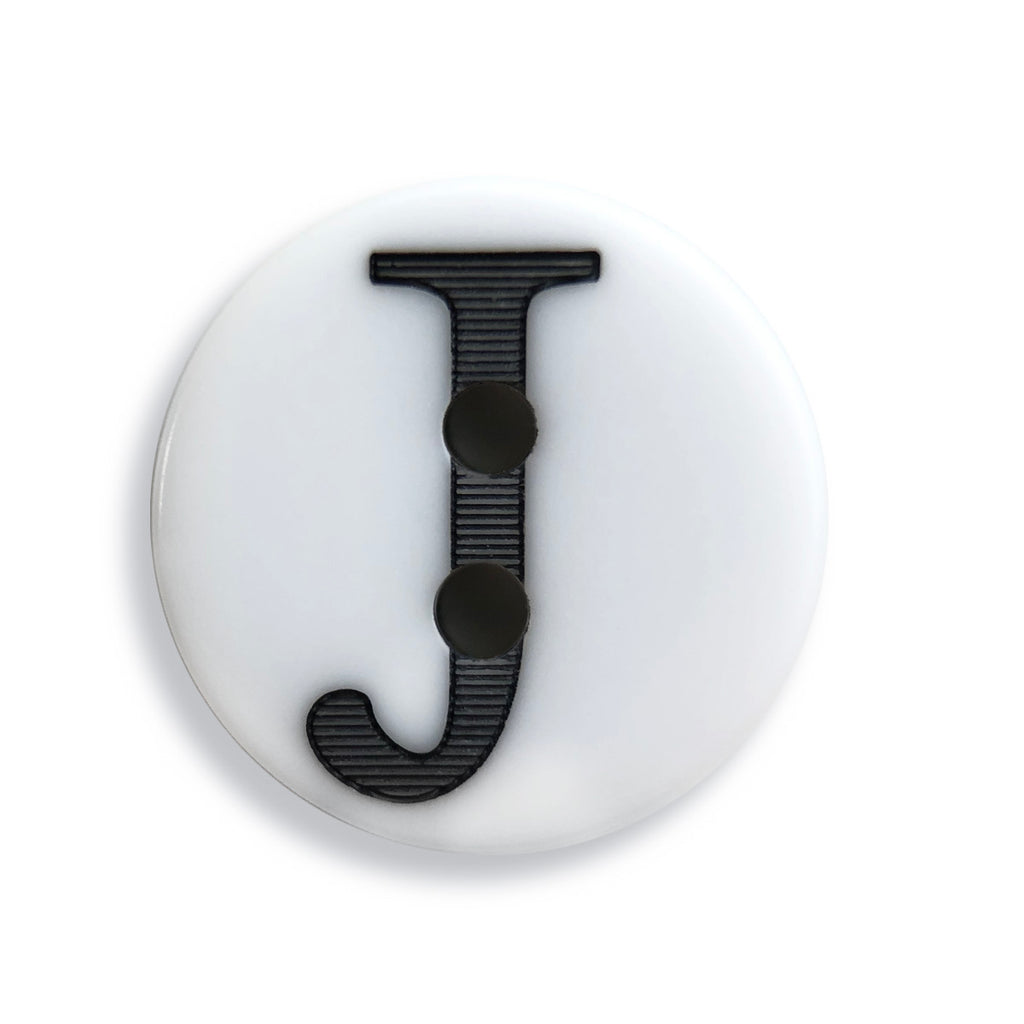 """J"" Button (white)"