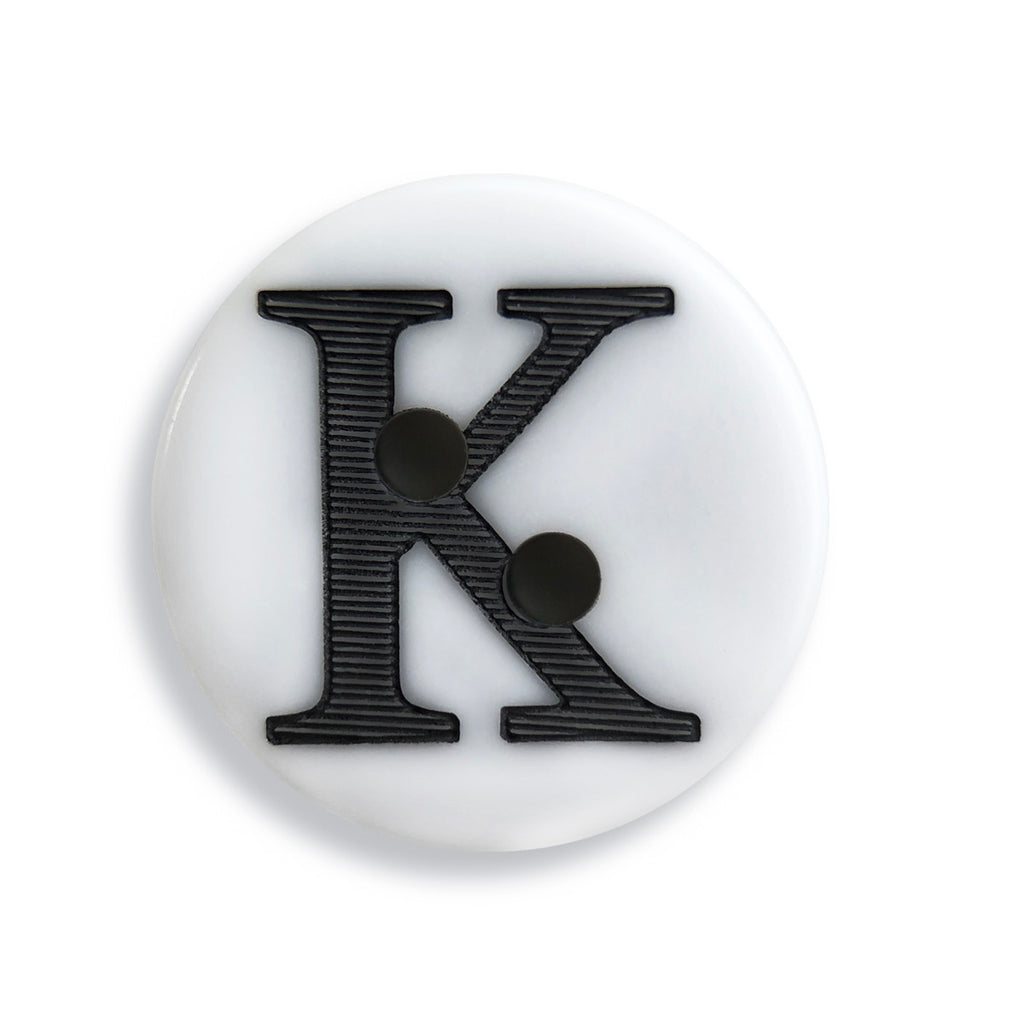 """K"" Button (white)"