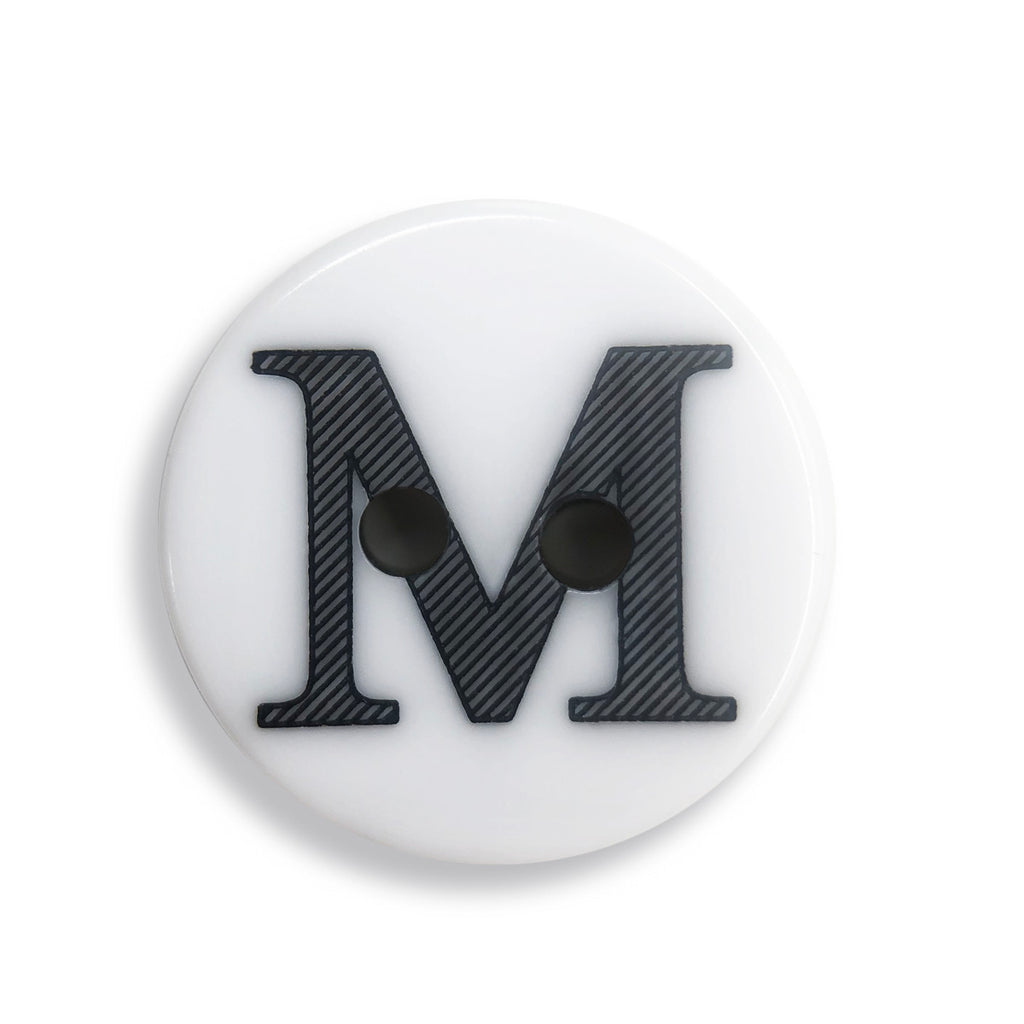 """M"" Button (white)"