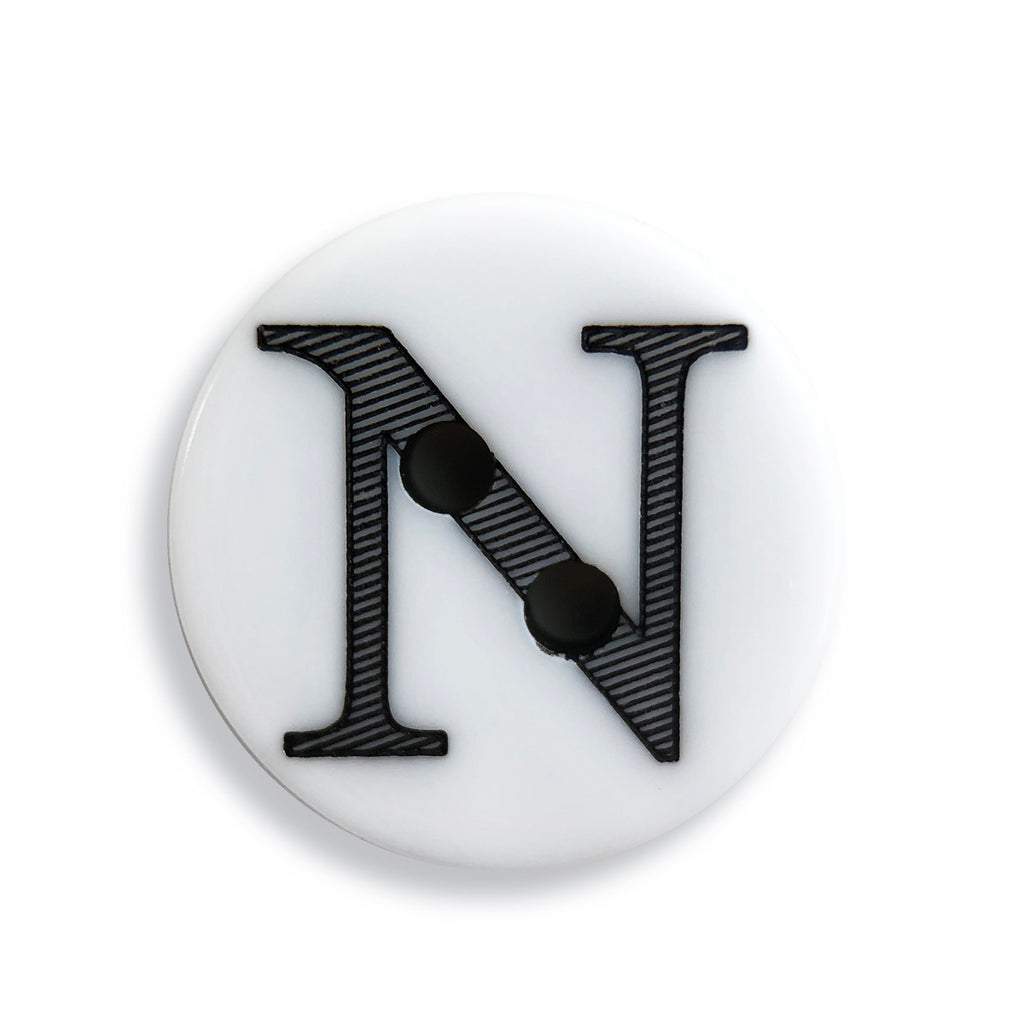 """N"" Button (white)"