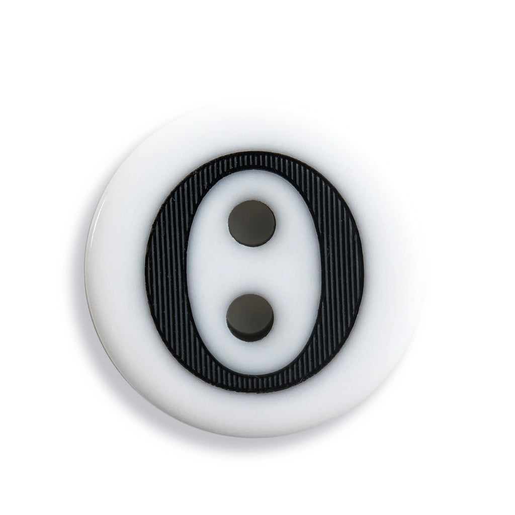 """O"" Button (white)"