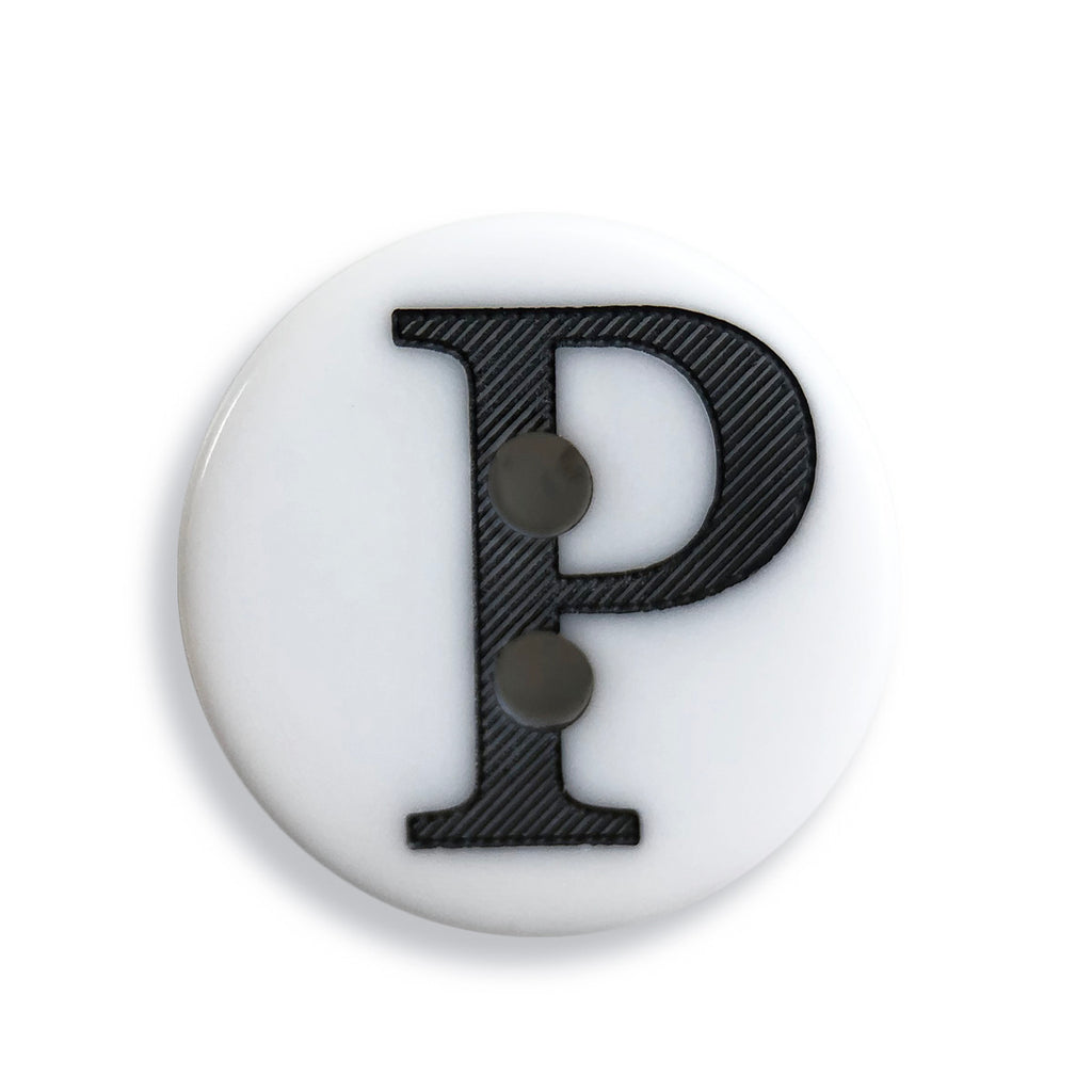 """P"" Button (white)"