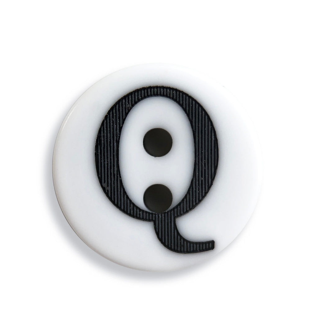"""Q"" Button (white)"