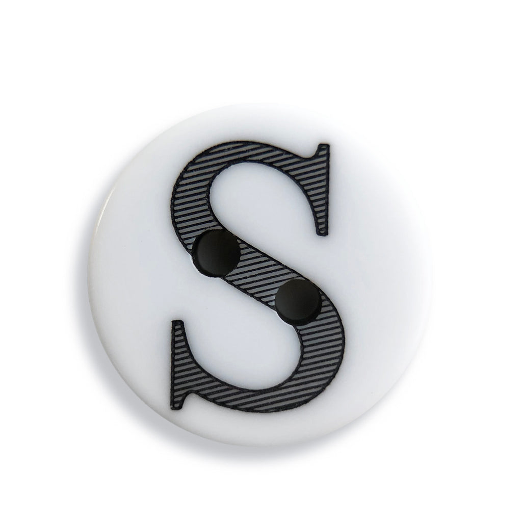 """S"" Button (white)"