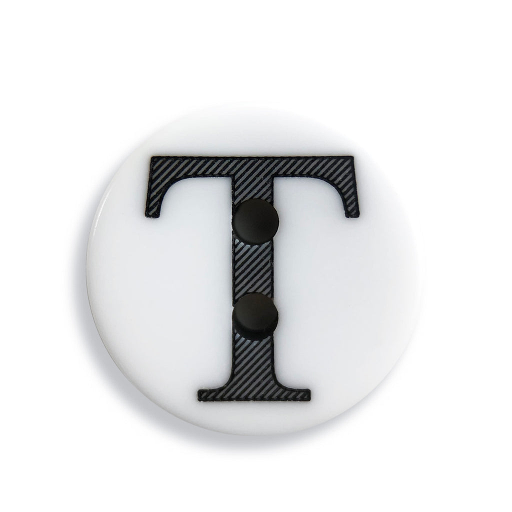 """T"" Button (white)"