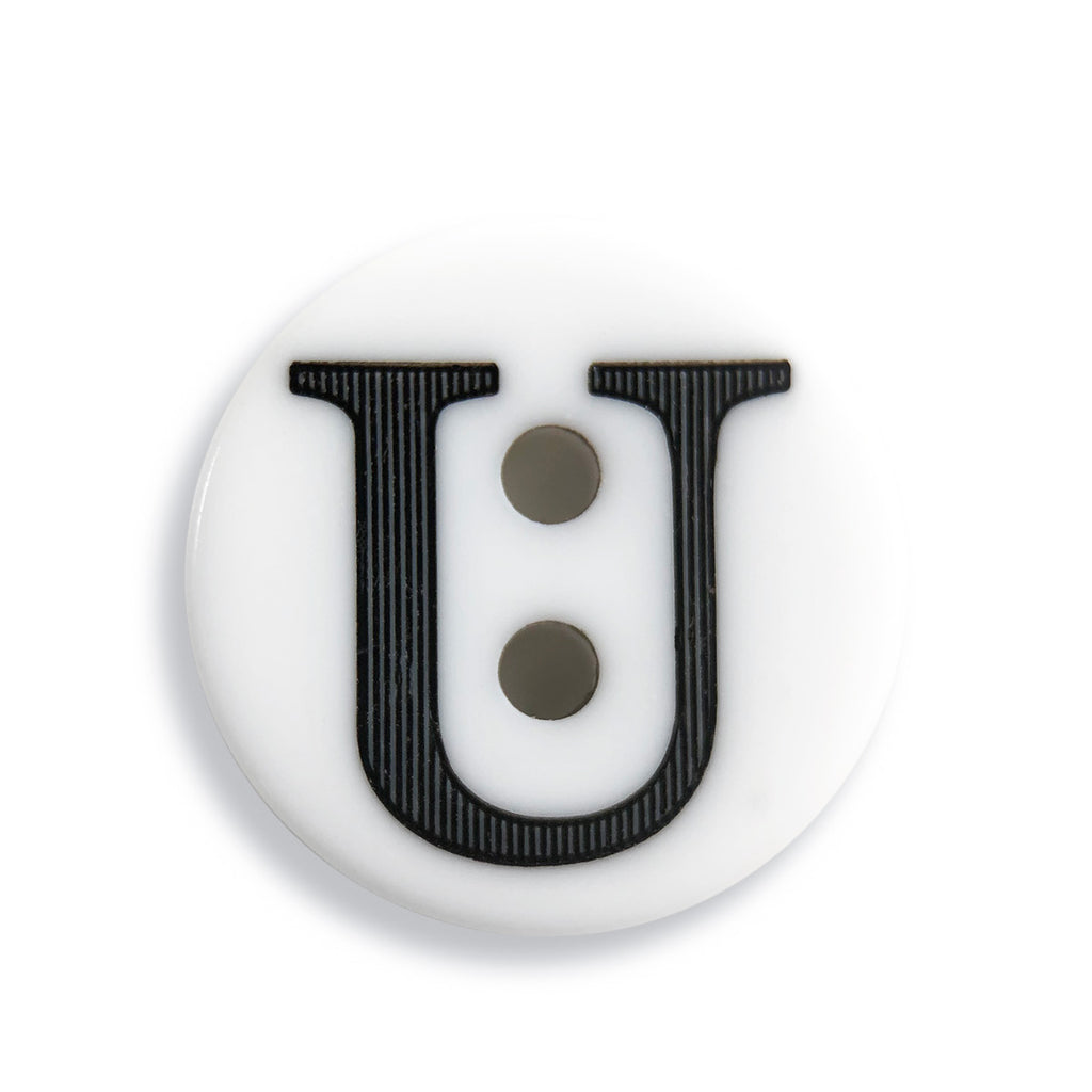"""U"" Button (white)"