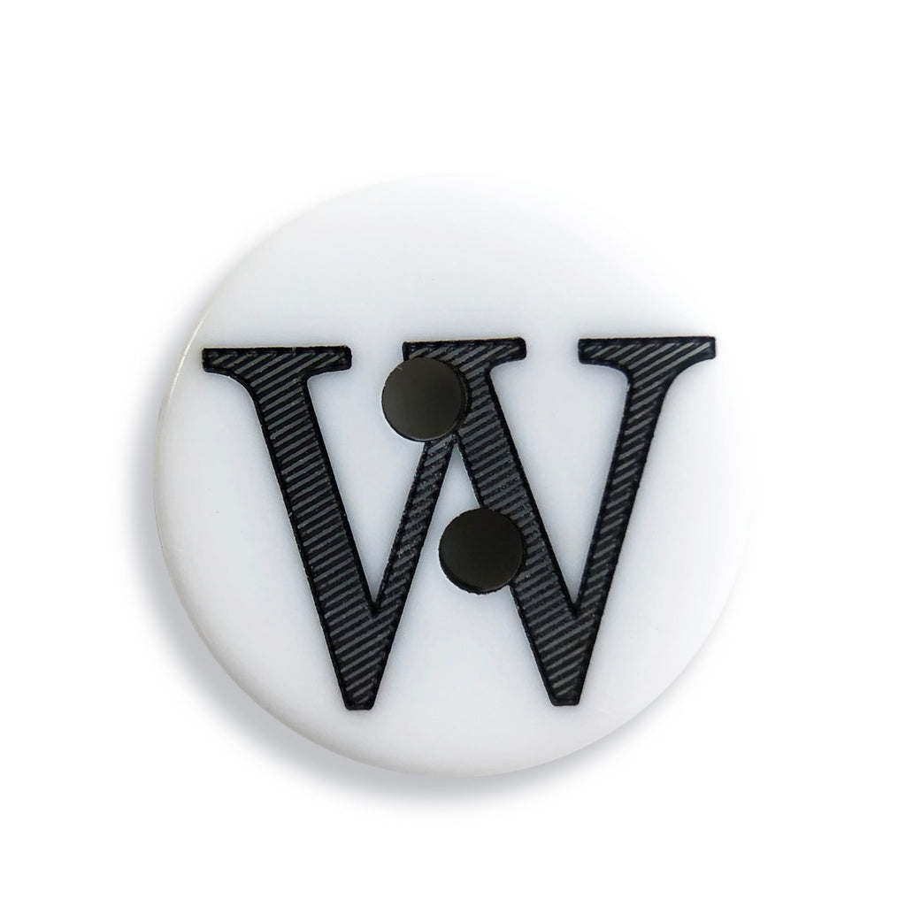 """W"" Button (white)"