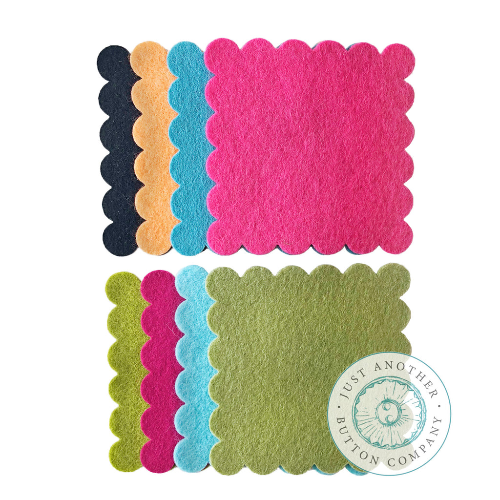 Wool Felt Scalloped Square