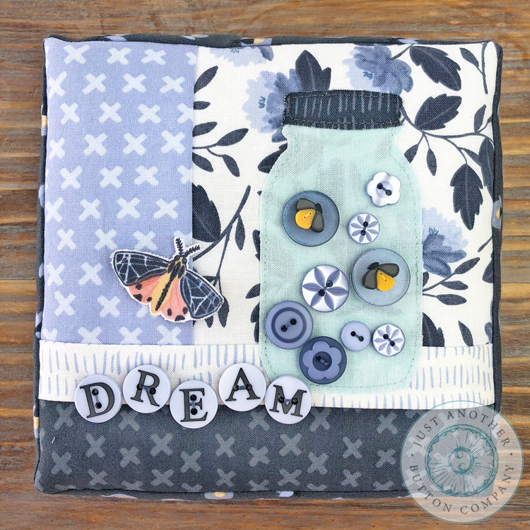 Dream Button Appliqué Pillow Pattern PDF