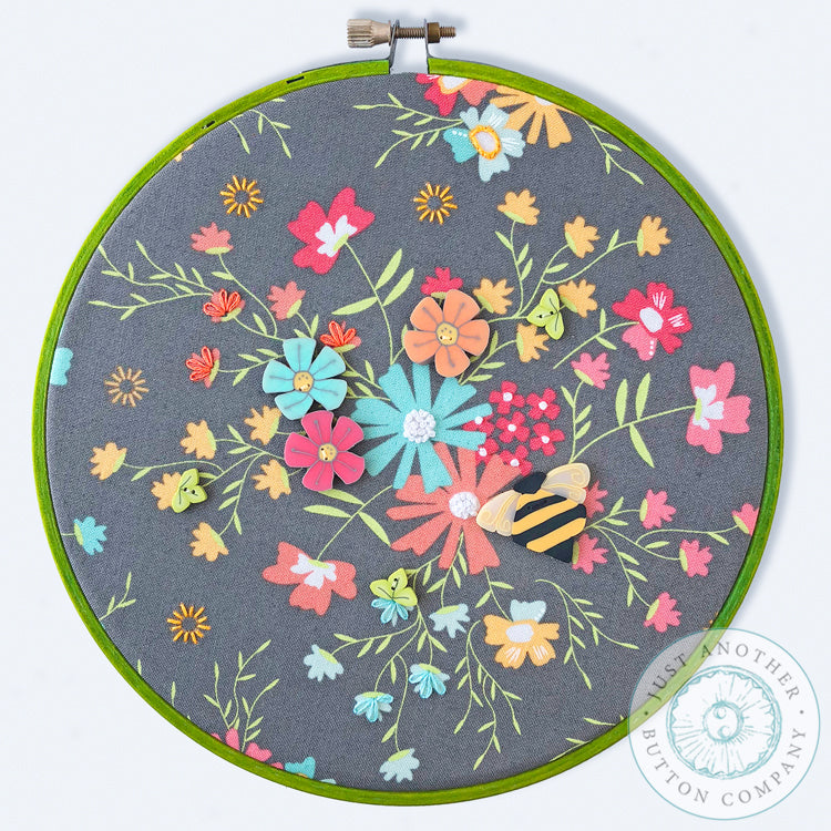 Shine Button Hoop Art Pattern PDF