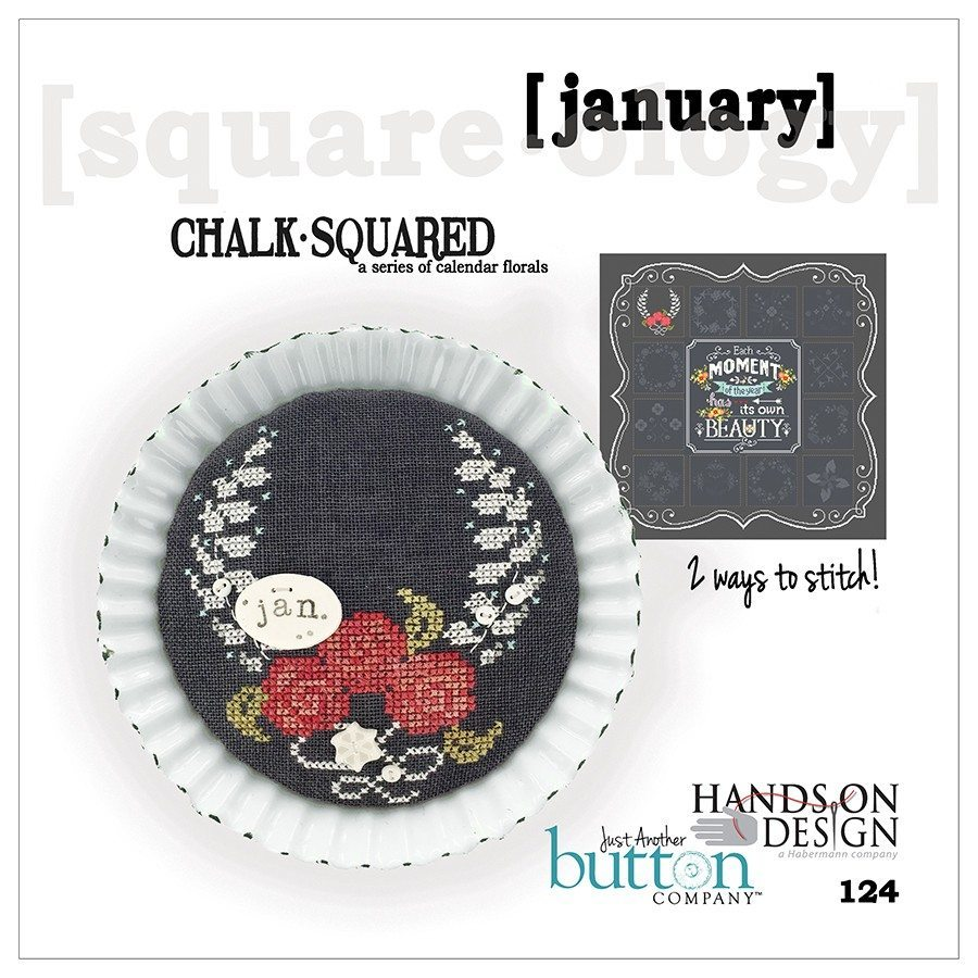 JABC - Cross Stitch Patterns - Chalk Squared January