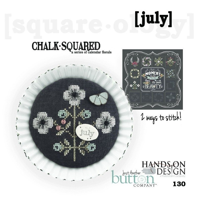 JABC - Cross Stitch Patterns - Chalk Squared July