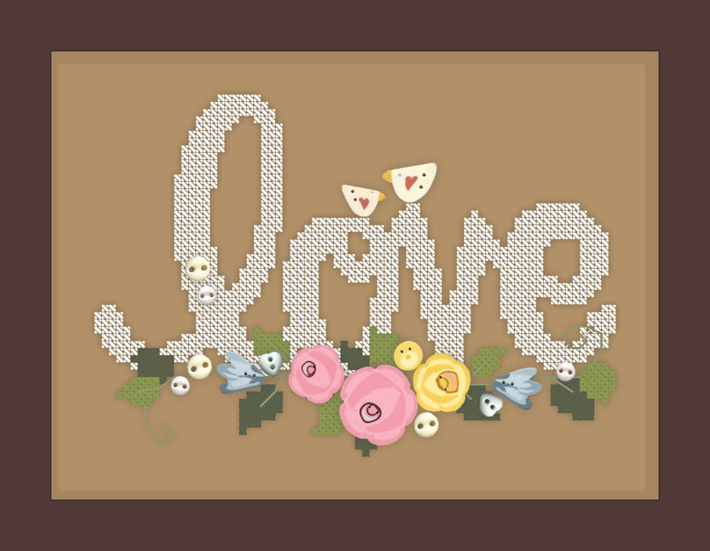 Love You More (includes free cross stitch chart)