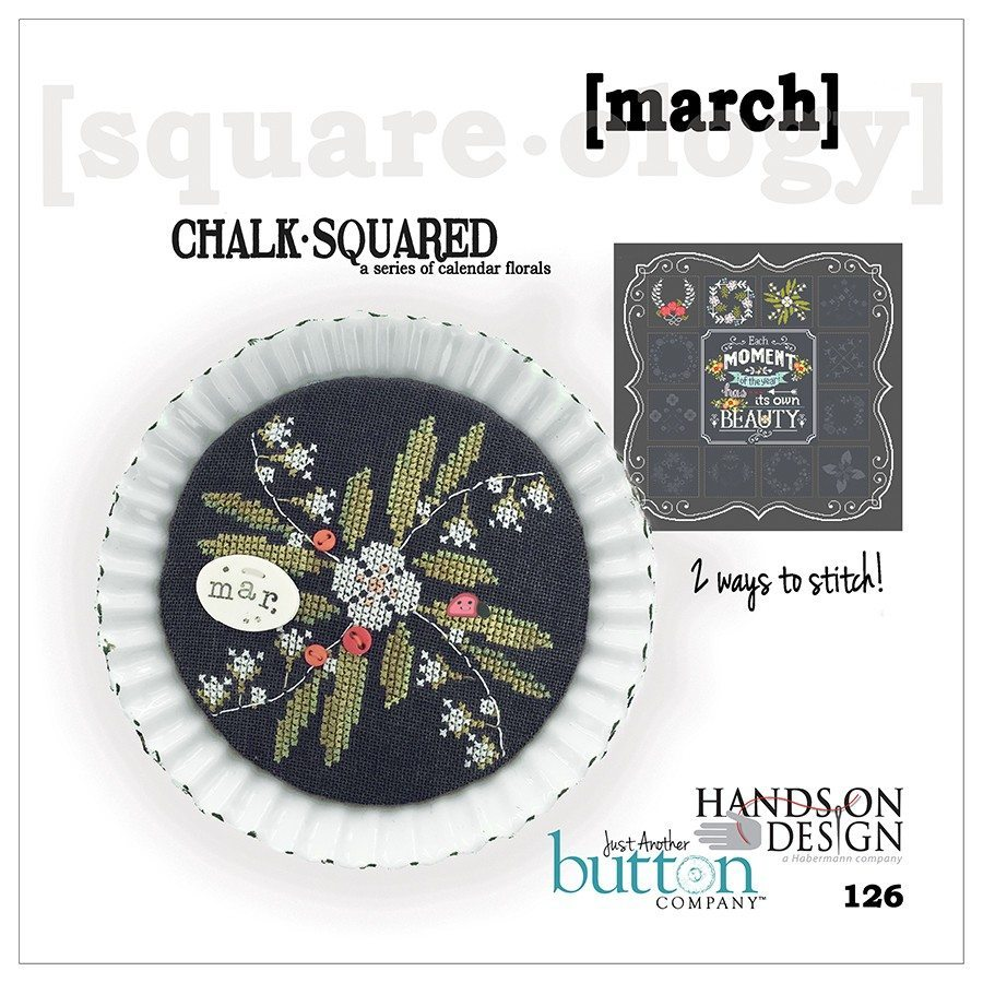 JABC - Cross Stitch Patterns - Chalk Squared March