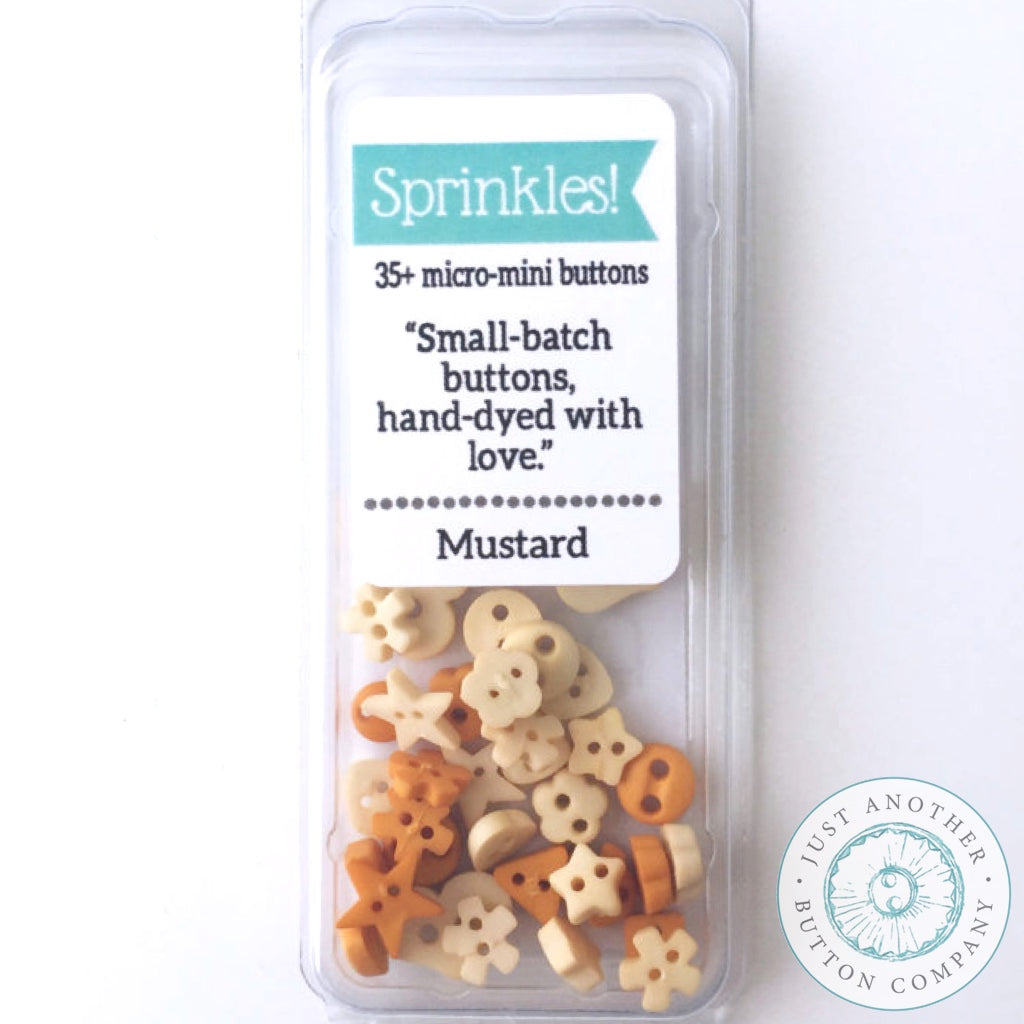 Just Another Button Company | Mustard Sprinkles Pack