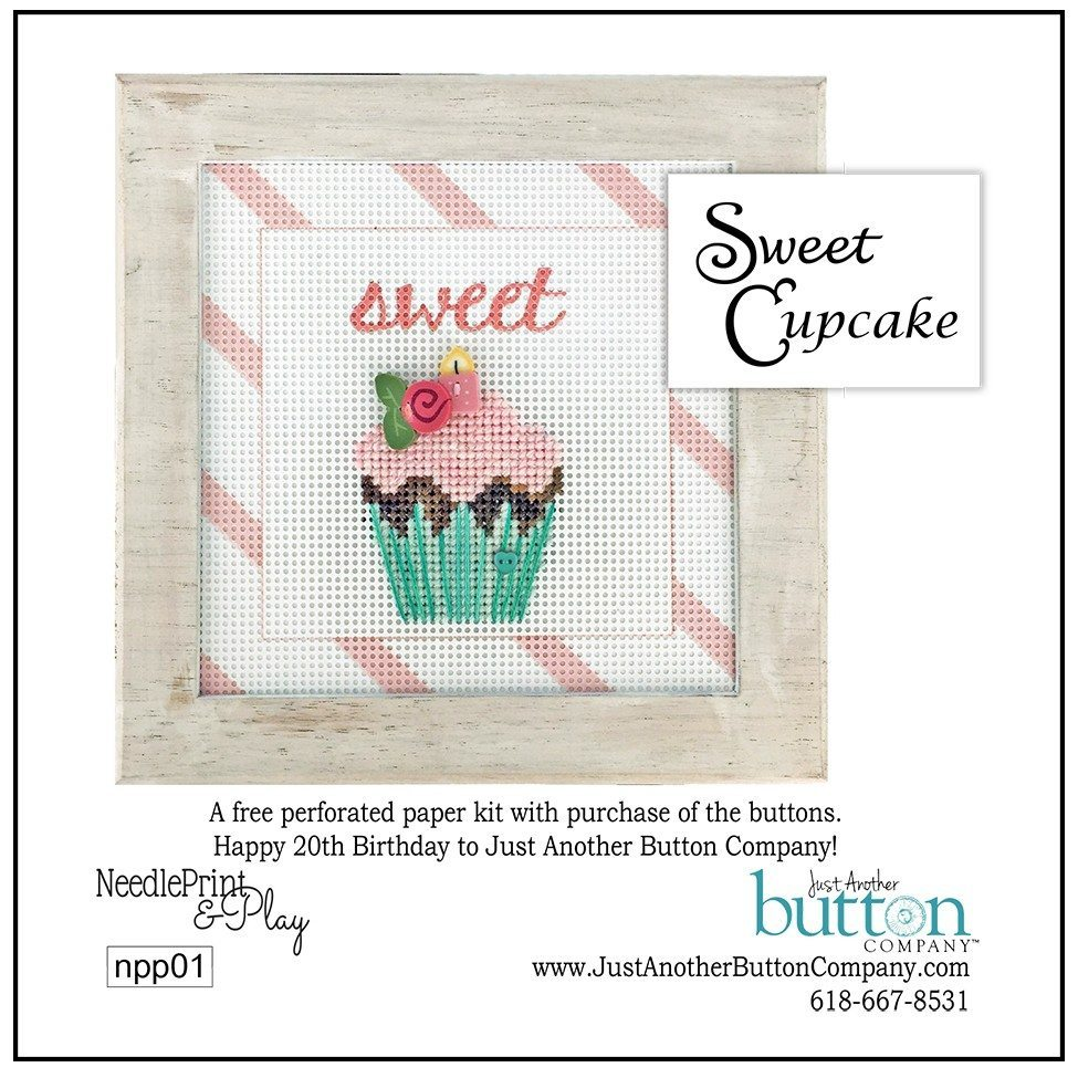 JABC - Cross Stitch Patterns - Sweet Cupcake Printed Perforated Paper Kit