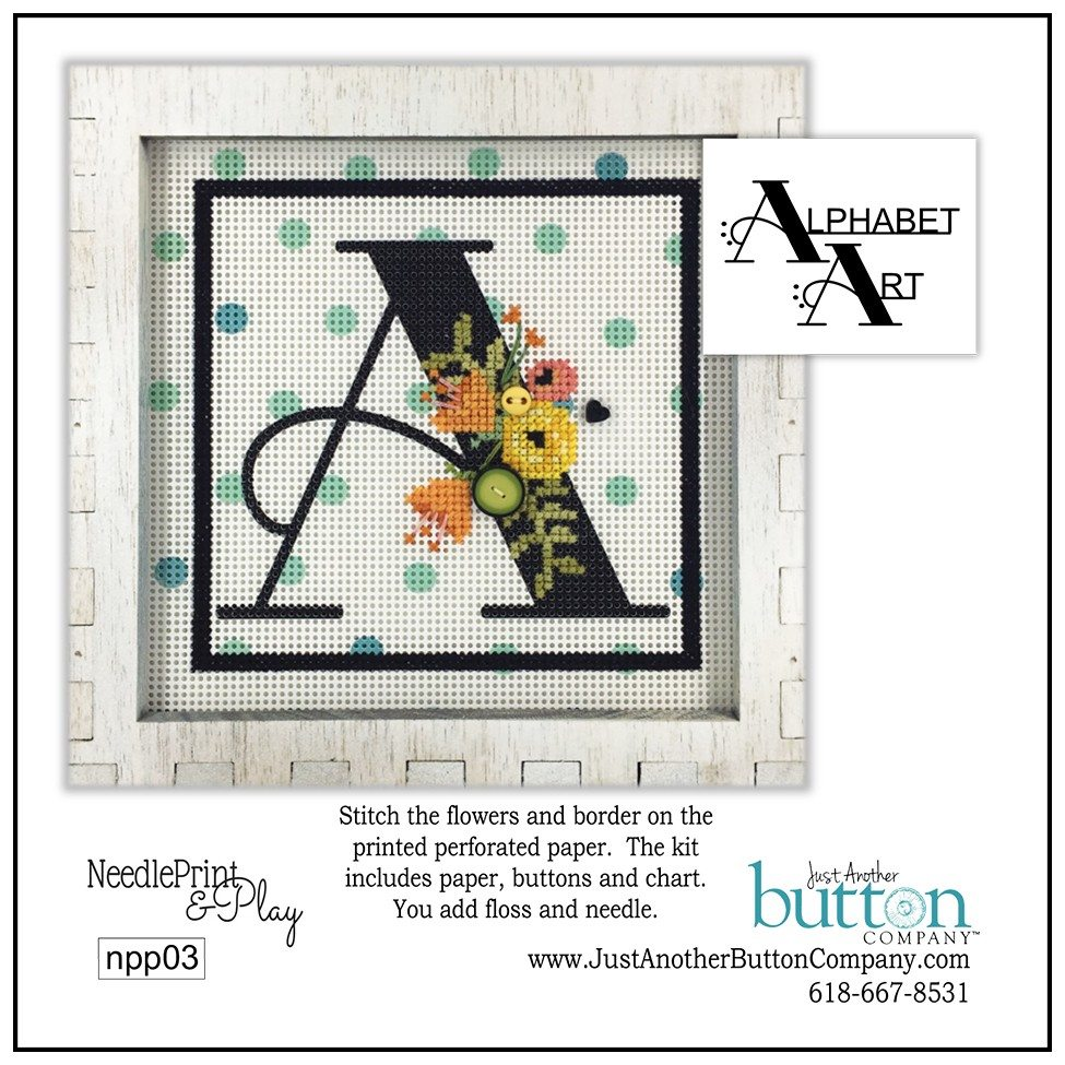 JABC - Needleprint & Play Cross Stitch - A
