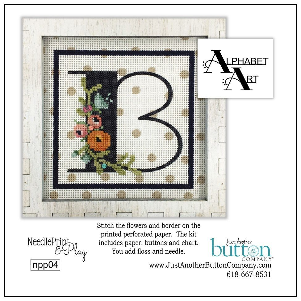 JABC - Needleprint & Play - Alphabet B Perforated Paper Kit