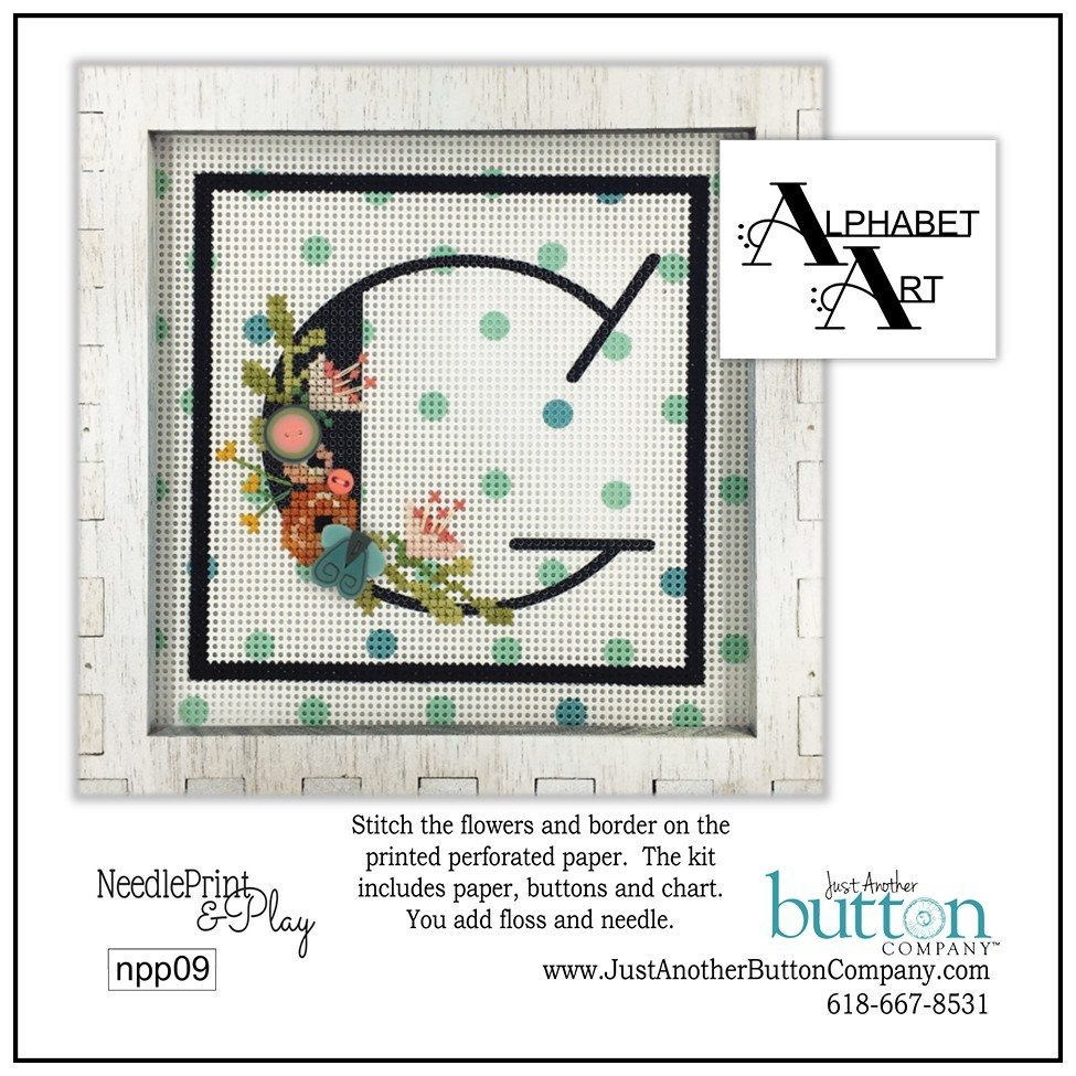 JABC - Needleprint & Play - Alphabet G Perforated Paper Kit