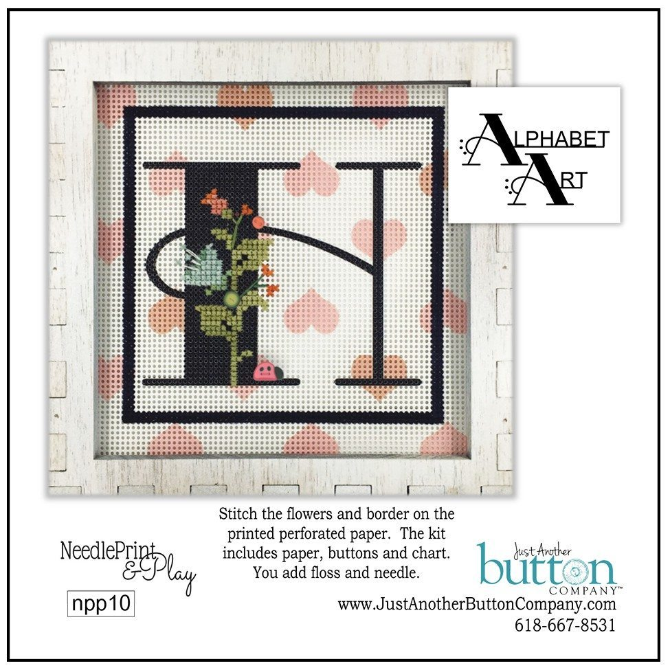 JABC - Needleprint & Play - Alphabet H Perforated Paper Kit