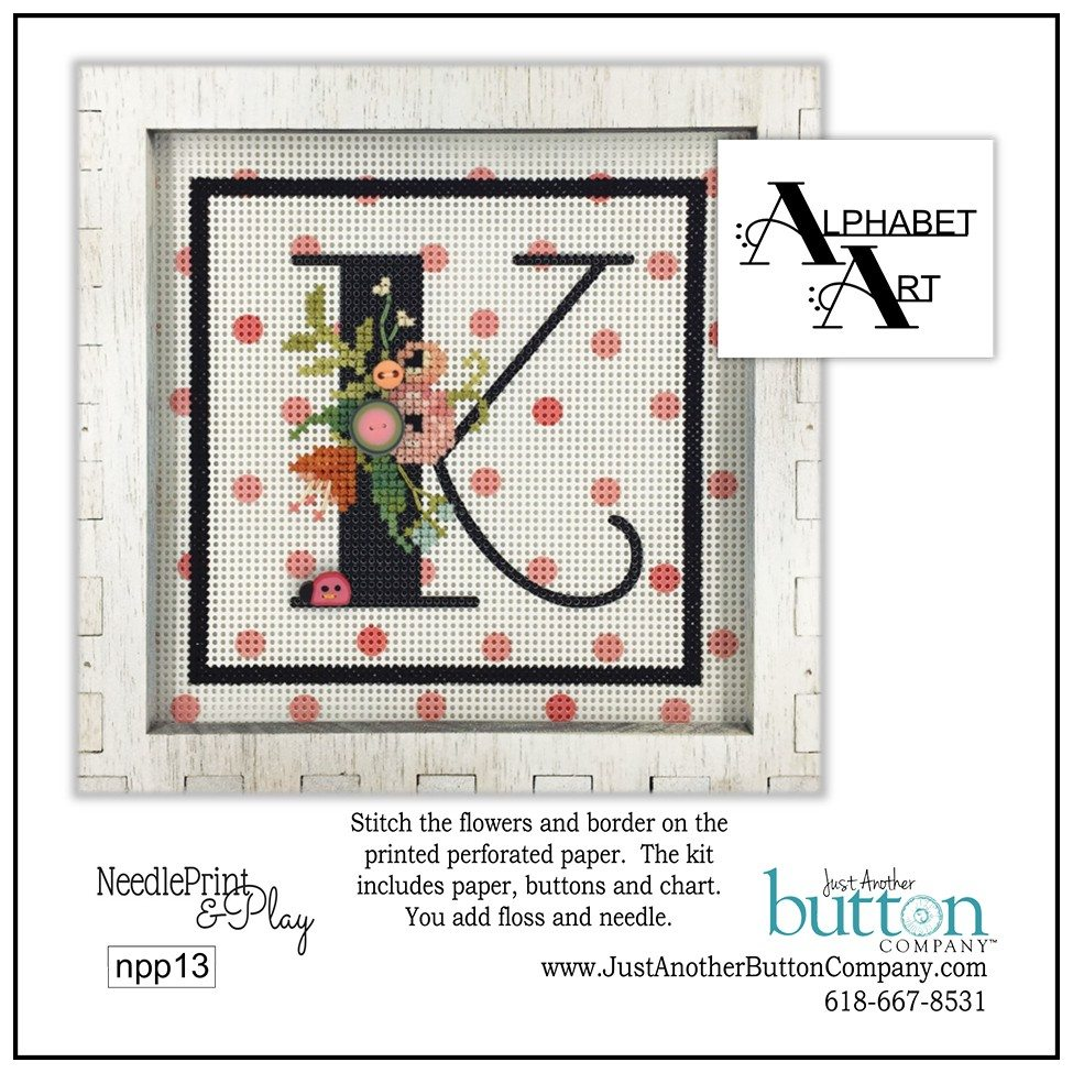 JABC - Needleprint & Play - Alphabet K Perforated Paper Kit
