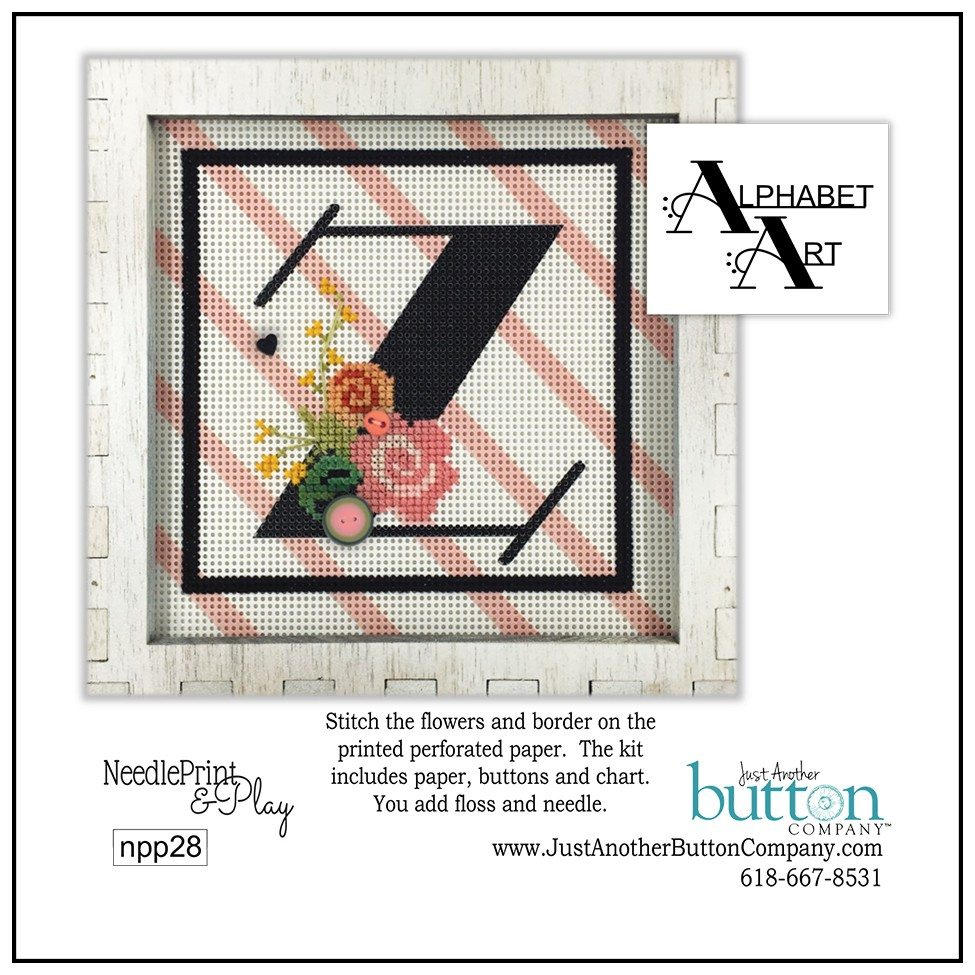 JABC - Needleprint & Play - Alphabet Z Perforated Paper Kit