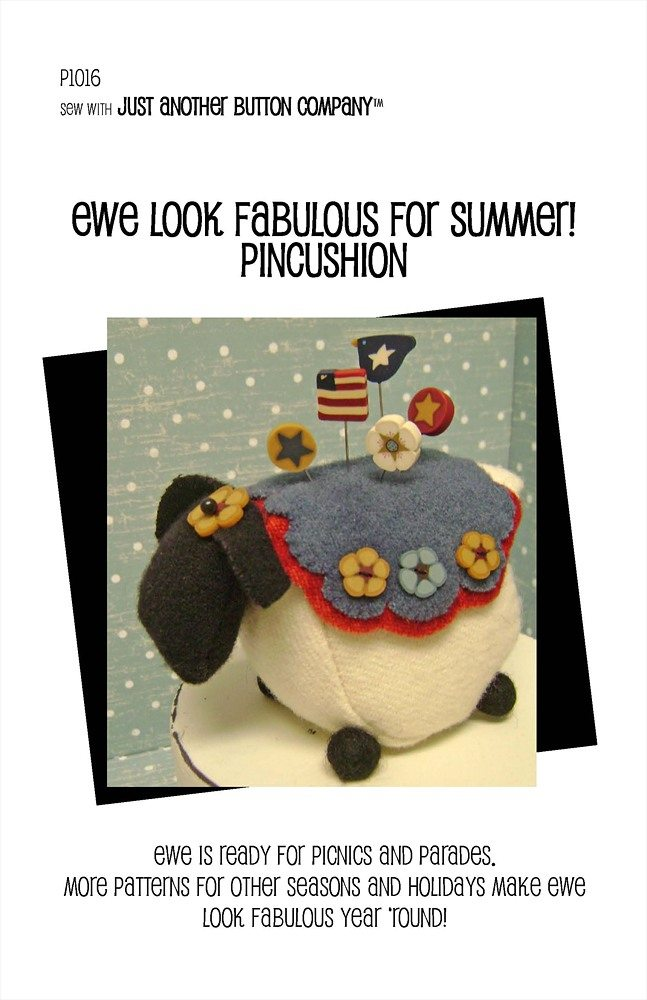 JABC - Pincushion Patterns - Ewe Look Fabulous for Summer