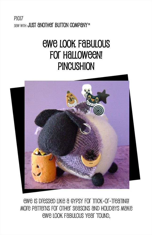 JABC - Pincushion Patterns - Ewe Look Fabulous for Halloween